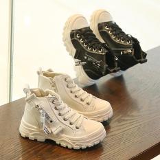 Giày cao cổ boot kéo khóa cho trẻ em bé trai bé gái siêu chất hàng đẹp êm chân