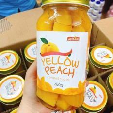 Đào Ngâm Yellow Peach Hàn Quốc 680g – Pha Nước Đào Ngon, Nước Đào Hàn Quốc, Đào Miếng Ngâm Chế Biến Sẵn
