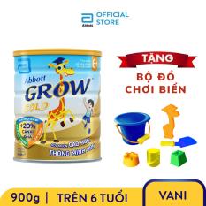 Lon sữa bột Abbott Grow 6+ 900g Tặng 1 Bộ đồ chơi biển