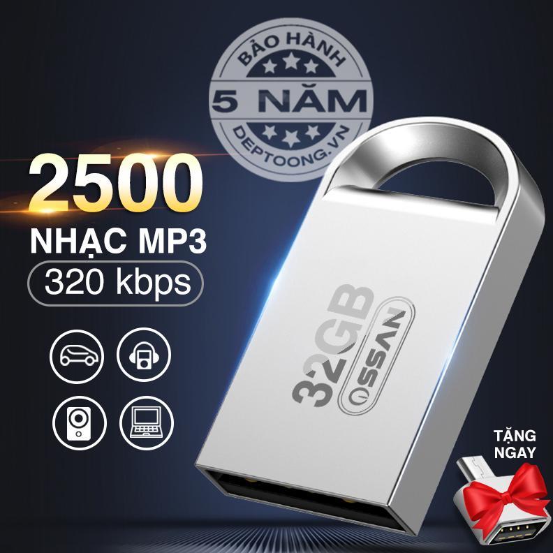 [Nhập ELMAR31 giảm 10% tối đa 200k đơn từ 99k]USB 32GB sẵn 2500 bài nhạc MP3 / USB ô tô...