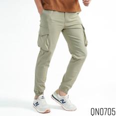 Quần Jogger Nam ROUGH Outfit Túi Hộp Phong Cách Vải Đũi Sơ Gỗ ( Sồi ) Cao Cấp
