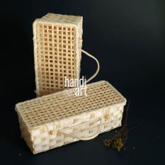 Hộp tre đan có quai – hộp tre đan hình chữ nhật