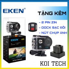 Camera 4k Eken H9r bản mới V8 nâng cấp 20MP Tặng 2 pin và 1 dock sạc đôi- camera wifi ip xe máy oto phượt chống nước chống sốc – camera hành trình phượt mini