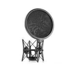 Shock mount (giá đỡ chống sốc cho micro) kèm màng lọc âm thanh micro Transhine SH-100