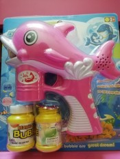 đồ chơi súng hình cá bắn bông bóng có nhạc (tặng kèm 2 cục pin).2 hũ xà phòng