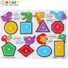 Đồ chơi bảng hình khối có núm cầm họa tiết thông minh Melissa & Doug cho bé