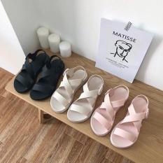 Giày Sandal Nữ Nhựa Dẻo Đi Mưa Hapu (Đen, Hồng, Kem)