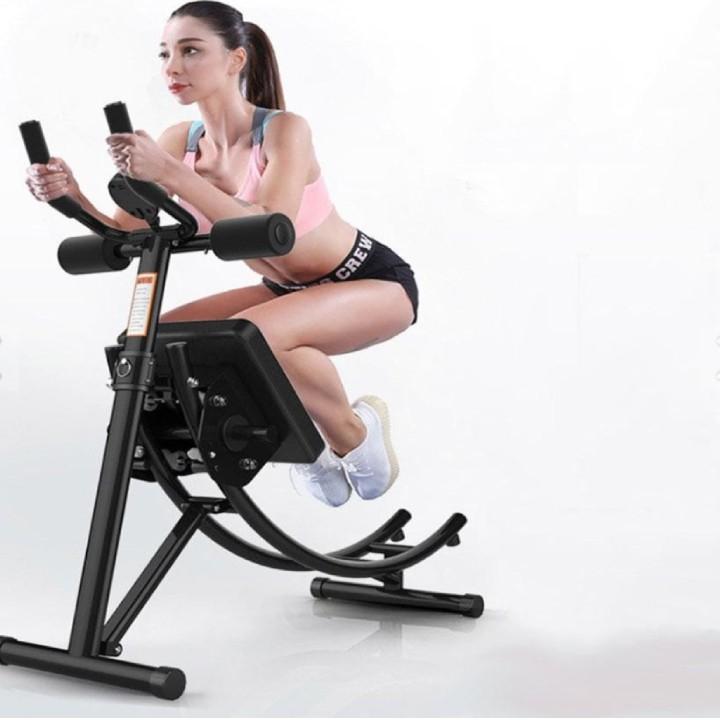 Máy tập bụng, Dụng cụ tập thể dục đa năng, dụng cụ tập Gym tại nhà Air Bike – Chất liệu thép chịu lực cao