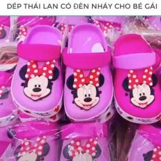 Dép Crocs Mickey Minnie Made in Thái Lan Cho bé gái màu hồng có đèn nháy dép nhẹ, êm, bền ảnh chụp thật