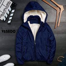Áo khoác gió lót lông cừu nam có túi đựng và mũ khóa tháo rời tiện lợi Venado