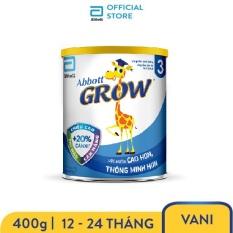 Sữa bột Abbott Grow 3 G-Power Hương Vani 400g cho trẻ 12 – 24 tháng cung cấp đầy đủ dưỡng chất bổ sung canxi giúp răng chắc khỏe và tăng chiều cao vượt trội – Giới hạn 5 sản phẩm/khách hàng