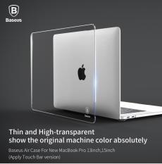 ốp lưng macbook Pro 13 inch 2016 2017 2018 Model A1706/ A1708/A1989 trong suốt hiệu baseus