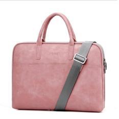 Túi da đeo vai, túi xách da chống sốc cho Macbook, Laptop 13.3 inch cao cấp