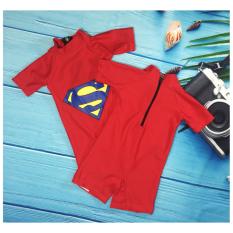 Đồ bơi bé trai liền quần hình siêu nhân, 10-24kg, chất thun giúp bé tự tin- thoải mái- dễ chịu có thể bơi thời gian dài.