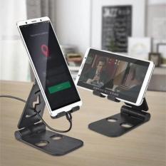 Giá đỡ điện thoại, máy tính bảng L-301 Cát Thái 2 trục có thể gập 270 độ, có khe luồng để sạc pin, Chất liệu nhựa, có silicone chống trơn không làm trầy xước đến thiết bị