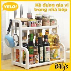 Billy's YELO!Kệ gia vị nhà bếp 2 tầng tiện ích Kệ Nhà Bếp Thông Minh