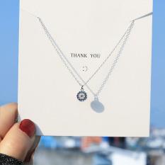 Dây chuyền | dây chuyền nữ |dây chuyền bạc | dây chuyền thiết kế đơn giản đính đá XB-DB40 – Bảo Ngọc Jewelry