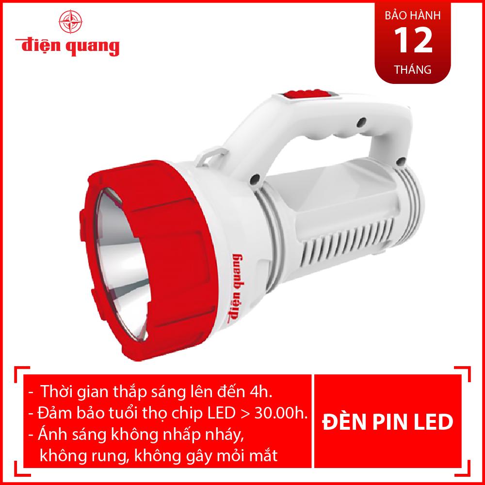 Đèn Pin LED Điện Quang ĐQ PFL08 R WR (Pin sạc, Trắng – Đỏ)