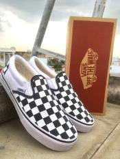 Giày Vans Slip On Lười Caro hàng VNXK tặng (BOX +VỚ)