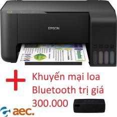 Máy in phun màu Epson L3110 Model 2019 ( In,Scan,Copy ) sử dụng mực Hàn Quốc + tặng kèm khuyến mại loa Bluetooth trị giá 300.000đ