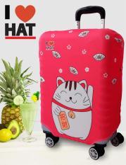 Vỏ bọc vali, áo bọc vali, túi bọc vali Mèo may mắn size S(18-20 inches)