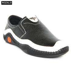 Giày lười nam da bò đế cao su Rozalo R7001