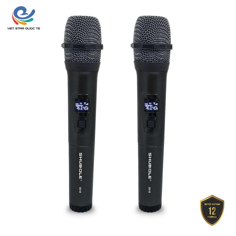 [ Tặng ] Micro karaoke không dây giá rẻ, Shubole SV ( SuperVIP ), chống hú, khử ồn, mich khong day, mic karaoke, mích hát karaoke không dây, míc karaoke chuyên nghiệp, bảo hành 12 tháng