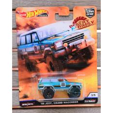 Xe ô tô mô hình tỉ lệ 1:64 Hot Wheels bánh cao su Desert Rally '88 Jeep Grand Wagoneer