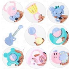 Bộ đồ chơi bình sữa xúc sắc 9 món cho bé