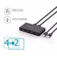 Bộ chia sẻ dữ liệu Máy in USB/HDD 4 thiết bị vào 2 máy tính UGREEN 30767 (sử dụng bằng nút bấm)
