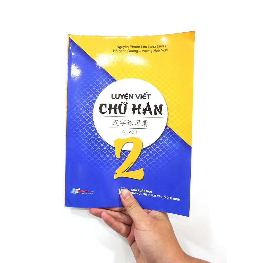 Sách – Luyện Viết Chữ Hán – Tập 2 – Độc quyền Nhân Văn