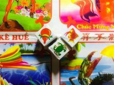 Bộ Bầu Cua Cá Tôm Bằng Giấy – Bầu Cua Hấp Dẫn – Chirita BCG01
