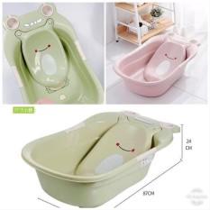 Chậu tắm ếch em bé có kệ đỡ chồng trơn trượt đảm bảo an toàn cho bé
