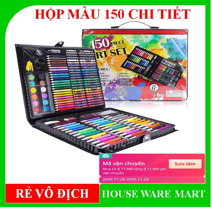 [ SALE XẢ KHO FREE SHIP 20K cho đơn hàng 49K ] Hộp bút màu 150 chi tiết cho bé thỏa sức sáng tạo, màu sắc đa dạng, bao bì đẹp mắt, chất màu tốt, không độc hại