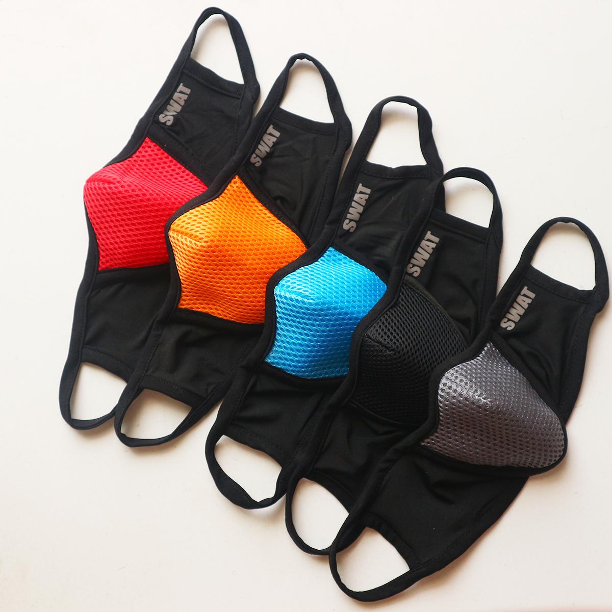 Khẩu trang vải 3 lớp chống bụi, chống nắng, chống văng bọt 100% nhiều màu [s.w.a.t]