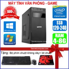 Case máy tính để bàn CPU Dual Core E7/8xxx / G2010 Ram 4GB / HDD 250GB-500GB / SSD 120GB-240GB + [QUÀ TẶNG: Bộ phím chuột không dây + bàn di chuột] – SDV