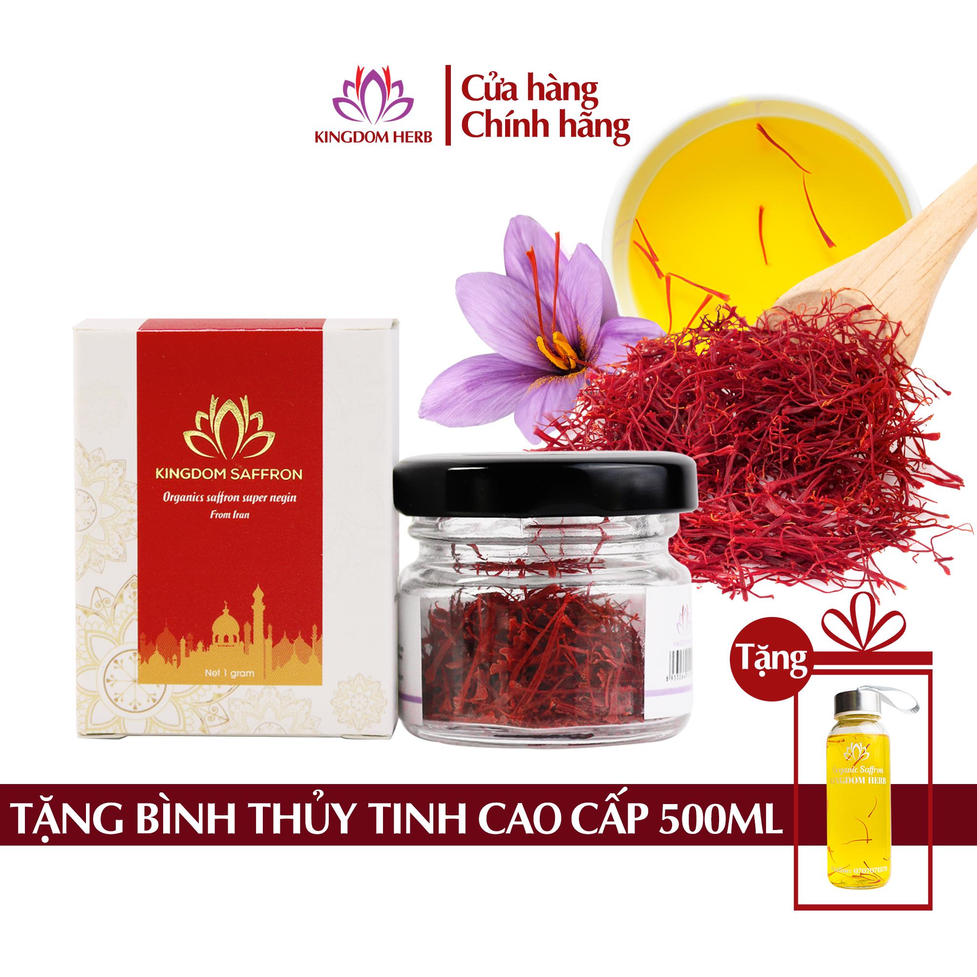 Saffron nhụy hoa nghệ tây Kingdom Iran chính hãng loại super negin thượng hạng hộp 1 gram