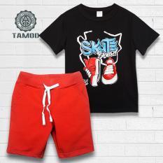 Quần áo bé trai màu đen đỏ thương hiệu TAMOD cực chất.