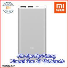 Pin Sạc Dự Phòng Xiaomi Gen 2S 10000mAh 2 Cổng USB – Bạc