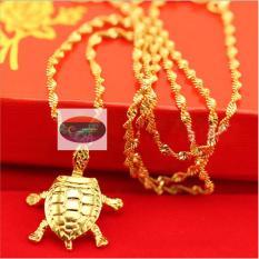 Dây Chuyền Nữ Mạ Vàng 24K – Mặt Dây Hình Con Rùa – Linh Vật Phong Thủy – Đem Lại May Mắn Tài Lộc Cho Người Sở Hũu !