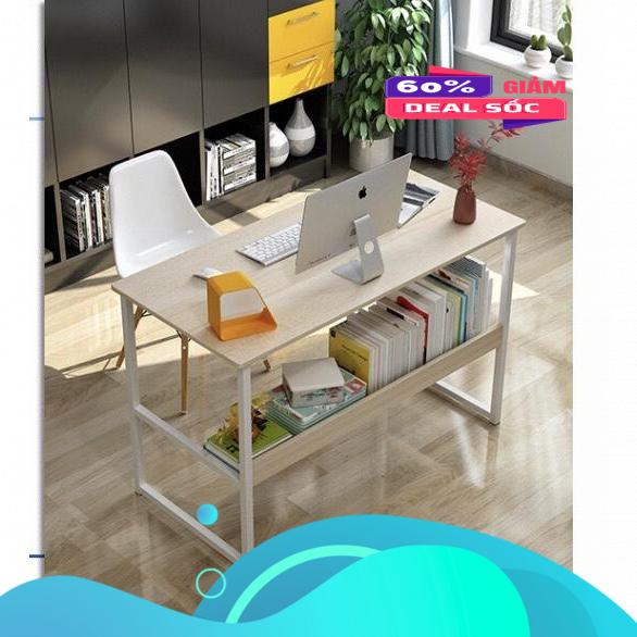Bàn làm việc, bàn văn phòng, bàn học sinh, bàn liền kệ đa năng tiện ích Ngotico mẫu mới 2020 Kích thước 1000x400x750