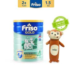 [Freeship-Thanh toán giảm thêm 30K] Sữa bột Friso Gold 4 1.5kg cho trẻ từ 2-4 tuổi + Tặng 1 gối ôm hình thú trị giá 150k – Tốt cho tiêu hóa, đề kháng tốt, giúp bé khỏe mạnh từ bên trong