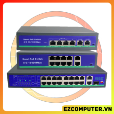 [Nhập ELJAN11 giảm 10%, tối đa 200k, đơn từ 99k]Switch POE Cho Hệ Thống Camera POE 48V 6 port (4+2) 10 port (8+2) 10/100Mbps