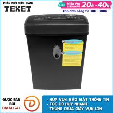 Máy hủy giấy 12L cao cấp TEXET CC612N