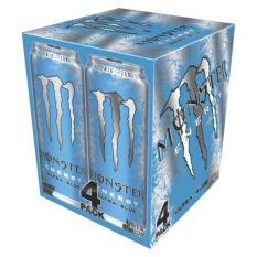 Monster Energy Ultra Blue 4 Pack (473ml)