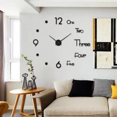 Đồng hồ treo tường không cần khoan đục theo phong cách châu Âu, đồng hồ treo tường phòng khách thời trang hiện đại, đồng hồ trang trí cá tính theo dạng sáng tạo Bắc Âu