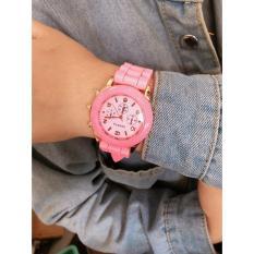 Đồng hồ thời trang nữ Geneva Khởi My Silicon màu Hồng G79