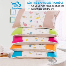 Gối trẻ em vải xô cao cấp 30×50 cm (1 chiếc)