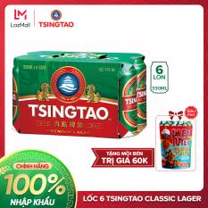 [TẶNG MỒI BÉN] Lốc 6 lon Bia Tsingtao Classic Lager – Độ cồn 5.0% – Bia Thanh Đảo Nhập khẩu chính hãng 100% Lựa chọn khác cho bia heineken