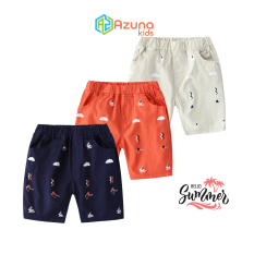 Quần Kaki bé trai WELLKIDS quần short cho bé họa tiết mùa hè – P1003